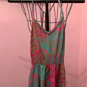 Psychedelic Hi-Lo Silk Tank Dress